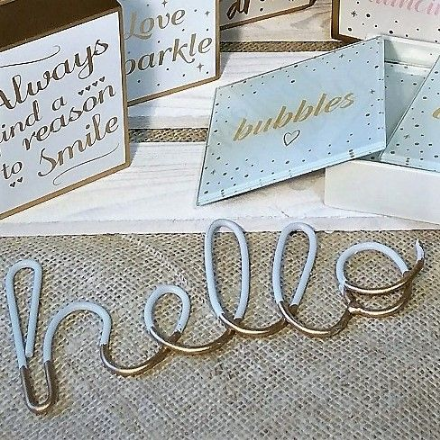 Chloe Hello wire sign